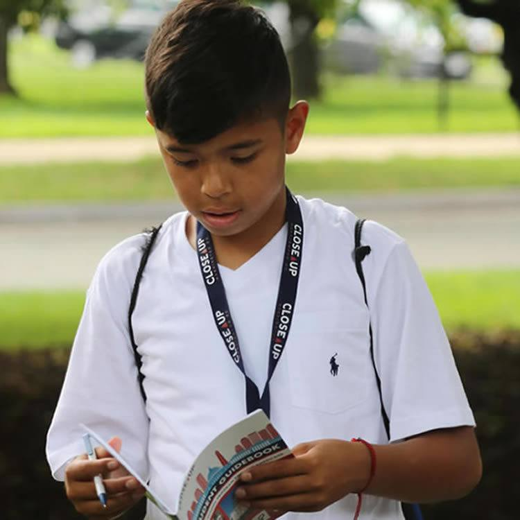student reading in DC