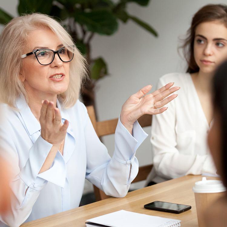 teacher talking